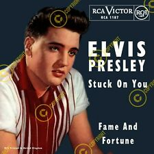 Elvis Presley Stuck On You Uk 7 Inch 45 SLEEVE ONLY