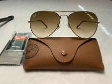 Ray-Ban Aviator Sunglasses RB3026 62mm 001/51 Gold Frame w/ Gradient Brown Lens