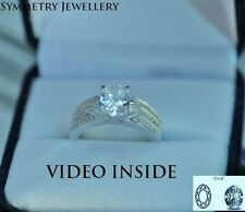 Engagement Sterling Silver Excellent Oval Fine Diamond Rings