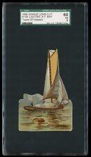 1889 N139 Honest Long Cut Types of Vessels Lighter NY Bay SGC 60 EX #1250972-014