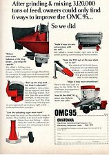 1967 Dealer Print Ad of Owatonna Manufacturing Co OMC 95 Mixer Mill