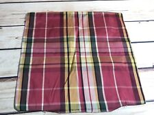 """Red Plaid Unfinished Pillow Cover 14x13"""" Nylon Feel Material"""