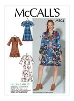 M7804 Sewing Pattern Easy Loose-fitting Pullover dress sleeve var McCall's 7804