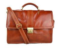 Cartella pelle borsa ufficio uomo donna valigetta 24 ore borsa pelle miele