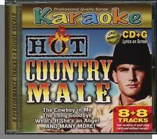 Karaoke CD+G - Hot Country Male - New 8 Song CD! What If She's an Angel, Young