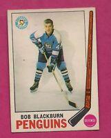 1969-70 OPC # 113 PENGUINS BOB BLACKBURN  ROOKIE EX-MT  CARD (INV#2462)