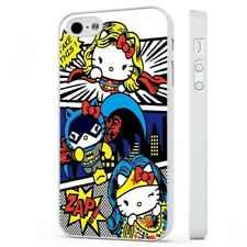 Hello Kitty Superhero Comic WHITE PHONE CASE COVER fits iPHONE