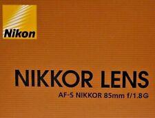 Objektiv Nikon AF-S Nikkor 85mm 1:1.8G - Fullset - 12 Monate Gewährleistung