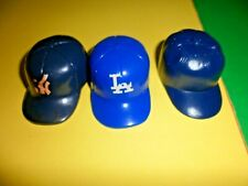 3 Baseball Helmets Hat Plastic Black Blue Souvenir Doll College Team 1 1/2""