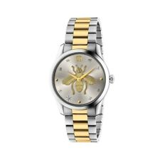 New Gucci G-Timeless Two-Tone Stainless Steel Bracelet Unisex Watch YA1264131