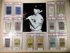 ONE New York Yankees Mantle Ticket 1952-1953 1955-1959 1960 1962 1964 1967-1968
