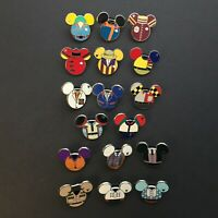 WDW - Hidden Mickey Series - Costume Icons - Set of 17 Pins Disney Pin 91219