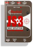 Radial Engineering JS-3 Three-Way Microphone Signal Splitter JS3 PRISTINE IN BOX