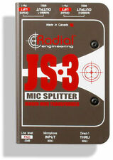 Radial Engineering JS-3 Three-Way Microphone Signal Splitter JS3 MAKE OFFER -NEW
