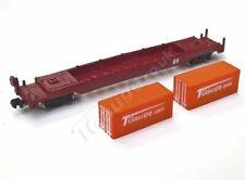 T Gauge Orange Container Wagon Set 04620-O