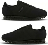 """Adidas LA Trainer Weave """"Triple Black"""" Men's Limited Edition Trainers All Sizes"""