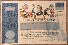 *RARE* 1989 Walt Disney Company Specimen Stock Certificate! De La Rue