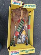 NOS Vintage Sportcraft Badminton Volleyball Set Shuttlecock