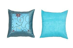 """5 Pcs Brocade Vintage Floral Handmade Pillow Cases 16"""" Cushion Cover"""