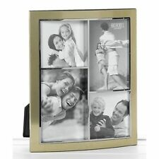 Gold Anodised Multi Frame 4 Pictures Collage Photo Photograph Picture Home Gift