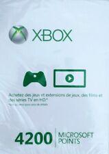 Carte Xbox Live 4200 points Microsoft ** NEUF ** Xbox 360