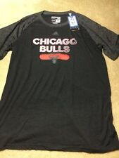 NBA BULLS Adidas Men Reflective Authentic Climate Ultimate S/Tee, LARGE NWT