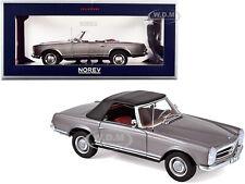 1963 MERCEDES BENZ 230SL CONVERTIBLE GRAY MET. 1/18 DIECAST MODEL NOREV 183498