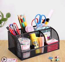 Desk Organizer Multifunction Metal Office Pens Pencil Tools Holder Storage Racks