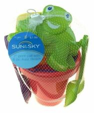 Sun and Sky Silly Turtle 7 Print Pail with 6 pc Asst Beach toy