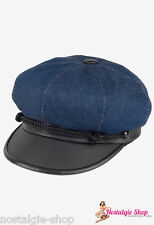 Baker's boy Cap Marlon Brando Blue Denim Hat The Wild One,USA made 50s lik