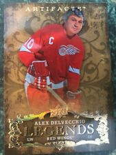 2008-09 ARTIFACTS LEGENDS GOLD RAINBOW PARALLEL #132 ALEX DELVECCHIO 5/5 RARE