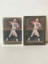 2008 UD Masterpieces Peyton Manning Basic&Black Framed Card#89 Mint Condition