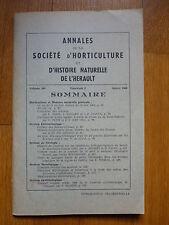 Annales Histoire naturelle Hérault, géologie , 1969