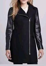 Ted Baker London Alycia Leather Sleeve Coat Size 3(US 8)