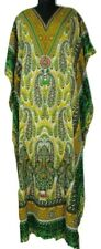 Women's Fabulous Long Kaftan, Beach Caftan, Paisley Design, Boho, Free Size