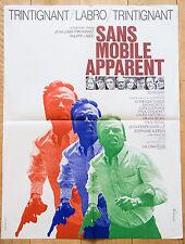 Affiche de cinéma 60x80 : SANS MOBILE APPARENT de Philippe LABRO - trintignant