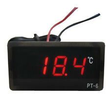 DC12V -50℃~110℃ Digital LED LCD Thermometer Temperature Detector Red Hygrometer