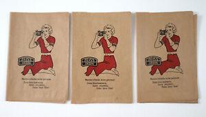 1930s ZEISS IKON set of 3 Envelopes Photo Labor for Prints Local Edition Estonia