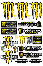 Monster ZX10R ZX6R Sponsor Blatt laminierte Aufkleber Moto Cross GELB