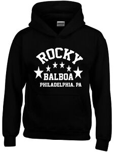 Balboa Rocky Movie Boxing Gym Training Mens Hoodie