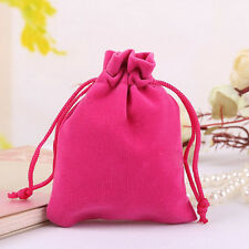 1pc Rosered Velvet Drawstring Jewelry Gift Bags Pouches Wedding Wholesale 2017!!