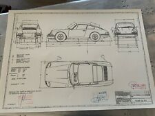 Porsche 912 Coupe 1967 Konstruktionszeichnung/ Blueprint.