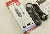 Shutter Release Remote Switch Cord F Canon Camera 40D 50D 7D 5D Mark II RS-80N3