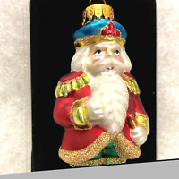 "Blown Glass Colorful Santa Hand Crafted New 3.5"" tall Old Time Pottery, Inc"