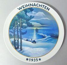 (G221) Rosenthal Weihnachtsteller 1935, 'Weihnachten am See',  Heinrich Fink