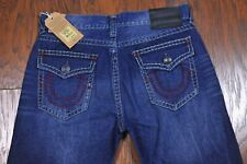 NWT True Religion Ricky Super T Rlxd Straight Jeans Dark Blue Blood Men's 38x35