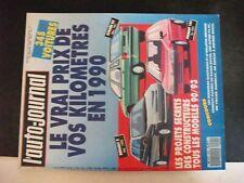 ** Revue L'auto journal 15 janvier 90 - Monte Carlo - Maruti 800 - Peugeot 309