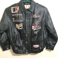 35b7e6cba344 Fubu Bomber Mens Leather Jacket Size XXXL Rare JNS 05 Motorcycle Racing