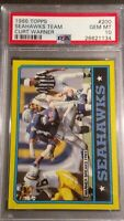 1986 Topps #200 Seahawks Team - Curt Warner / PSA 10 GEM MINT