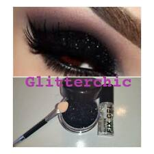 Black Eyes Glitter, with Fix Gel and Application Wand Long Lasting. Large 10g